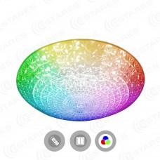 Управляемый светодиодный светильник  AKRILIKA  RGB 36W R-388-CLEAR/WHITE-220-IP20/2019