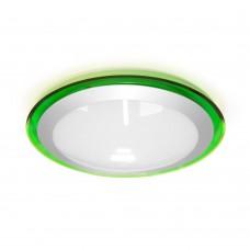 Накладной светодиодный светильник ALR-16 AC170-265V 16W d330мм*H70мм Холодный белый 1400lm (Зеленый корпус)