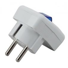 Vx5-W ЭРА Вилка с/з с выключателем 16A белая (24/8)