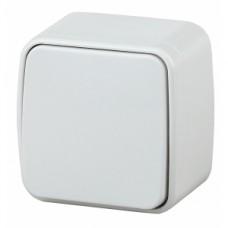 Intro Переключатель, 10А-250В, IP20, ОУ, Polo, белый