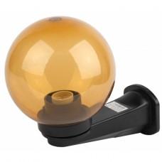 НБУ 01-60-203 ЭРА Светильник садово-парковый, шар золотистый с настенным крепежом D=200 mm