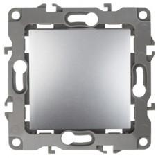 12-1001-03 ЭРА Выключатель, 10АХ-250В, IP20, без м.лапок, Эра12, алюминий