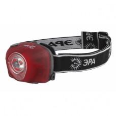 G3W Фонарь ЭРА Налобный 3W LED, коллиматор, 3хААА, 4 режима, бл.