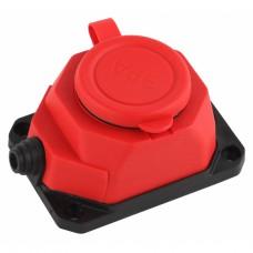 K-1e-RED-IP44 ЭРА Колодка каучуковая с/з 1гн 16A IP44 красная