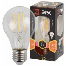 F-LED A60-5W-827-E27 ЭРА (филамент, груша, 5Вт, тепл, Е27)