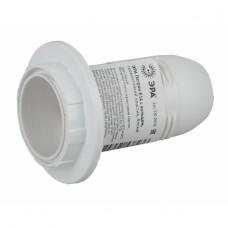 ЭРА Патрон Е14 с кольцом, термостойкий пластик, белый
