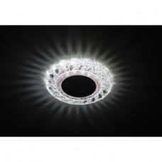 DK LD18 SL PK/WH Светильник ЭРА декор cо светодиодной подсветкой MR16, прозрачный розовый