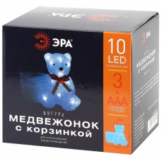ENIOF - 12 ЭРА Фигура LED Медвежонок с корзинкой, 3АА