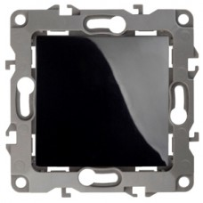 12-1001-06 ЭРА Выключатель, 10АХ-250В, IP20, без м.лапок, Эра12, чёрный