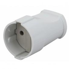 Rx1-W ЭРА Розетка кабельная б/з прямая 10A белая