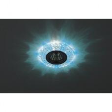 DK LD2 SL/BL+WH Светильник ЭРА декор cо светодиодной подсветкой (голубой+белый), прозрачный