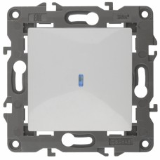 14-1102-01 ЭРА Выключатель с подсветкой, 10АХ-250В, IP20, Эра Elegance, белый
