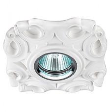 DK G8 Светильник ЭРА декор гипс под покраску MR16,12V/220V, 50W, круглый,белый