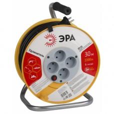 RP-4-2x1.0-30m ЭРА пласт. катушка без зазем. 30м 4гн 2х1мм2