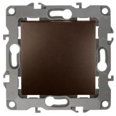 12-1001-13 ЭРА Выключатель, 10АХ-250В, IP20, без м.лапок, Эра12, бронза
