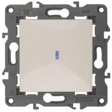 14-1102-02 ЭРА Выключатель с подсветкой, 10АХ-250В, IP20, Эра Elegance, сл.кость