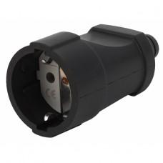 Rx4-B ЭРА Розетка кабельная с/з прямая ПВХ 16A черная