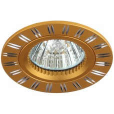 KL33 AL/GD Светильник ЭРА алюминиевый MR16,12V/220V, 50W золото/хром