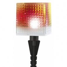 SL-PL20-СUB ЭРА Садовый светильник на солнечной батарее, пластик, прозрачный, черный, 20 см
