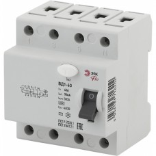 ЭРА Pro Устройство защитного отключения NO-902-39 УЗО ВД1-63 3P+N 40А 30мА
