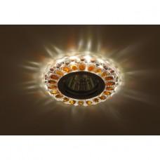 DK LD10 SL OR/WH Светильник ЭРА декор cо светодиодной подсветкой MR16, прозрачный оранжевый