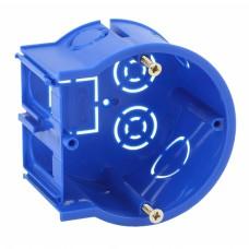 ЭРА Подрозетник концевой UniPost 68х45мм для твердых стен синий IP30
