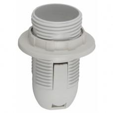 ЭРА Патрон Е14 с кольцом,пластик, белый