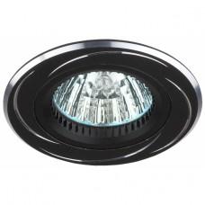 KL34 AL/BK Светильник ЭРА алюминиевый MR16,12V/220V, 50W черный/хром