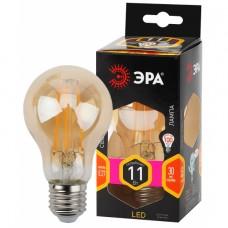 F-LED A60-11W-827-E27 gold ЭРА (филамент, груша золот., 11Вт, тепл, Е27)