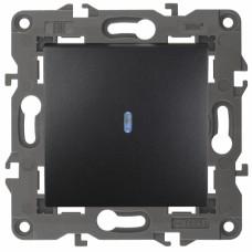 14-1102-05 ЭРА Выключатель с подсветкой, 10АХ-250В, IP20, Эра Elegance, антрацит