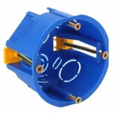 ЭРА Коробка установочн. КУП 68х45мм для полых стен саморез. пласт. лапк. синяя IP30