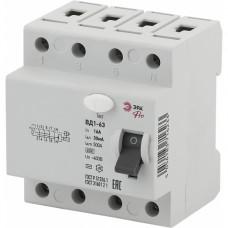 ЭРА Pro Устройство защитного отключения NO-902-43 УЗО ВД1-63 3P+N 16А 30мА