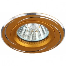 KL34 AL/GD Светильник ЭРА алюминиевый MR16,12V/220V, 50W золото/хром
