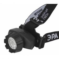 GB-603 Фонарь ЭРА налобный [14xLED, 3xAAA, 4 реж., черный, бл]