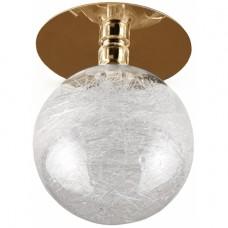 """DK14 GD/WH Светильник ЭРА декор """"стеклянный шар с паутиной"""" золото/прозрачный"""